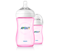 AVENT Natural Pink/Blue 9oz X2